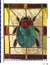 Original stained glass panel by SB as greeting card