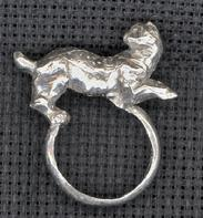 JAGUAR RING- view2-side view Size 8*ONE OF A KIND*